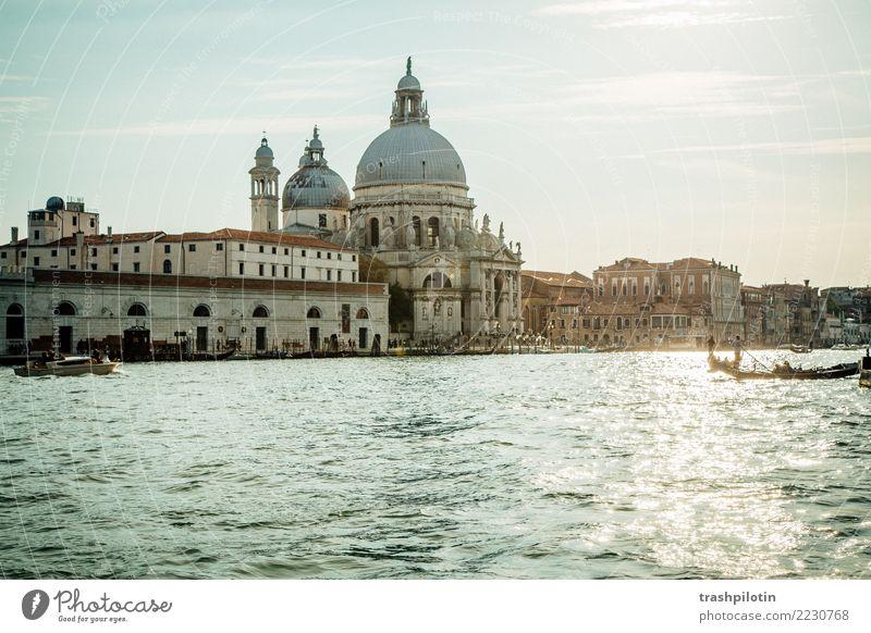 Venedig Ferien & Urlaub & Reisen Sommer Stadt Sonne Ferne Tourismus Freiheit Ausflug Europa Abenteuer Italien Sehenswürdigkeit Bauwerk Sommerurlaub Wahrzeichen