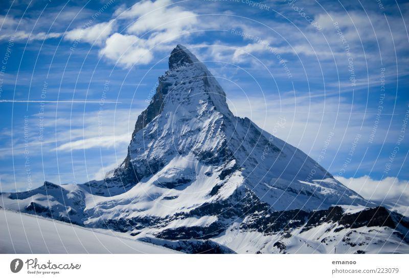 Der Berg der Berge Natur blau Winter Wolken kalt Schnee Freiheit Berge u. Gebirge Landschaft Eis Felsen hoch Frost Schweiz Alpen Spitze