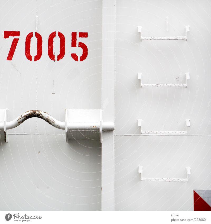 HH10.2 | Boy, You Gotta Carry That Weight Container Metall Ziffern & Zahlen leuchten authentisch hell Sauberkeit rot weiß Farbe Ordnung Metallwaren lackiert