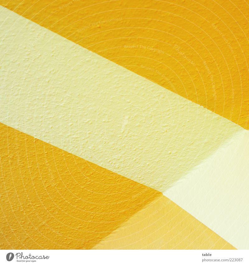 ÜberEck weiß gelb Wand Stil Mauer orange Raum Wohnung Design Ordnung Lifestyle Perspektive ästhetisch Ecke Streifen Dekoration & Verzierung
