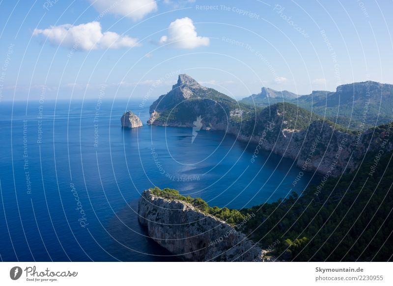 Urlaub, Sonne, Meer, Mittelmeer, Mallorca Umwelt Natur Landschaft Felsen Berge u. Gebirge Küste Strand Bucht Schwimmen & Baden entdecken Erholung träumen