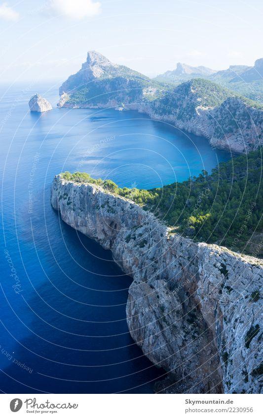 Urlaub, Mallorca, Strand, Aussicht, Felsen, Natur, Reisen Hügel Berge u. Gebirge Küste Bucht Meer Insel Europa entdecken Erholung Ferien & Urlaub & Reisen
