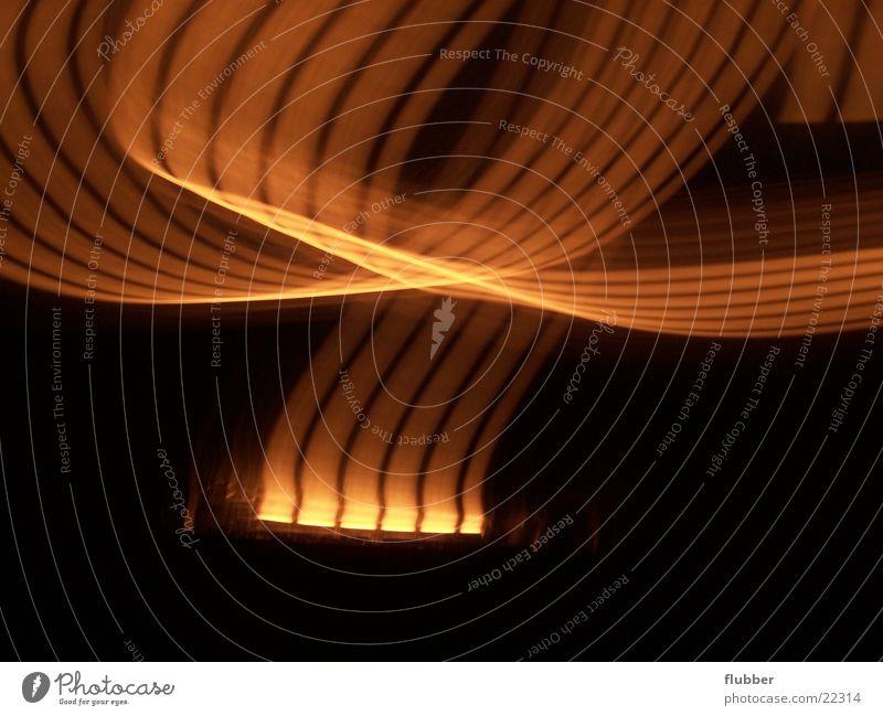 Lampe mal anders gelb orange Lichtstreifen Lichtbahn