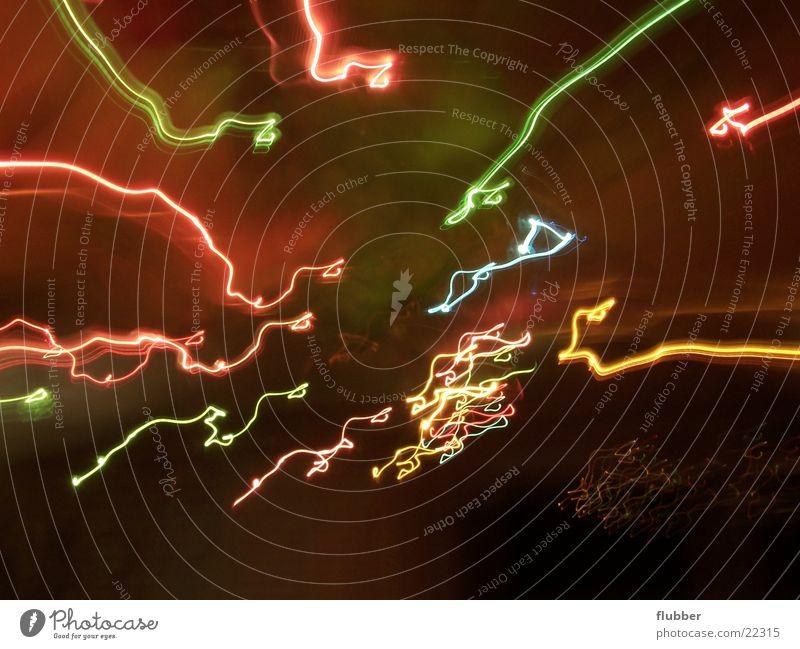 irrlichter Langzeitbelichtung Licht Irrlicht Lampe Lichtbahn mehrfarbig Kreis