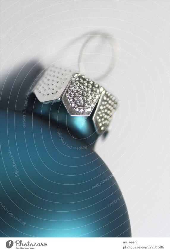 Christmas Ball Weihnachten & Advent blau weiß Gefühle Stil Feste & Feiern Design Metall Dekoration & Verzierung modern glänzend elegant ästhetisch Glas