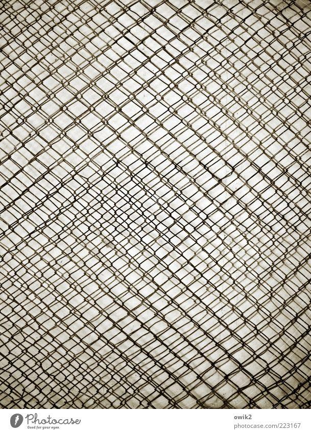 Netzwerk Kunst Metall ästhetisch außergewöhnlich dünn eckig einfach fest viele verrückt grau schwarz weiß Zusammenhalt Draht Maschendrahtzaun durcheinander