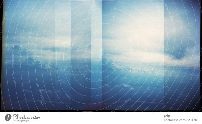 lomo himmel Himmel Natur blau Sommer Wolken Leben Luft Horizont ästhetisch Leidenschaft skurril Schönes Wetter Textfreiraum Luftaufnahme Lomografie Blick