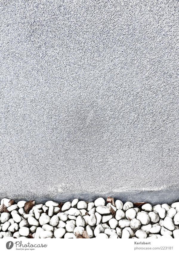 chrome. stadtrand. ruhig Wand grau Stein Mauer Hintergrundbild Fassade Putz Am Rand stagnierend Bildausschnitt Kieselsteine steinig abstrakt Textfreiraum links