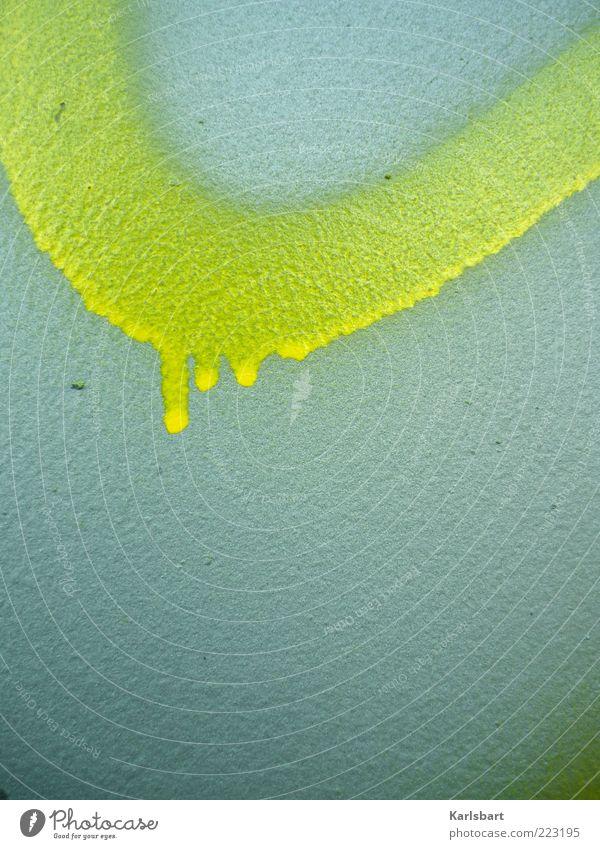 newton. Farbe gelb Wand Graffiti Stein Mauer Farbstoff Kunst Fassade Beton Design Lifestyle Kultur Tropfen Physik Kreativität