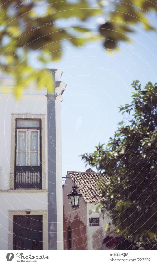 Faro. alt Baum Blatt ruhig Haus Erholung Fenster Fassade ästhetisch Kultur Sträucher heiß Idylle Laterne Fernweh