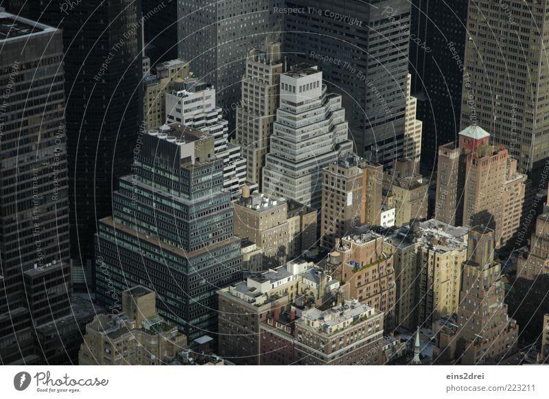 New York, New York Stadt grau Stein Architektur Gebäude Glas Fassade Beton Hochhaus groß modern Zukunft Dach Bankgebäude Häusliches Leben