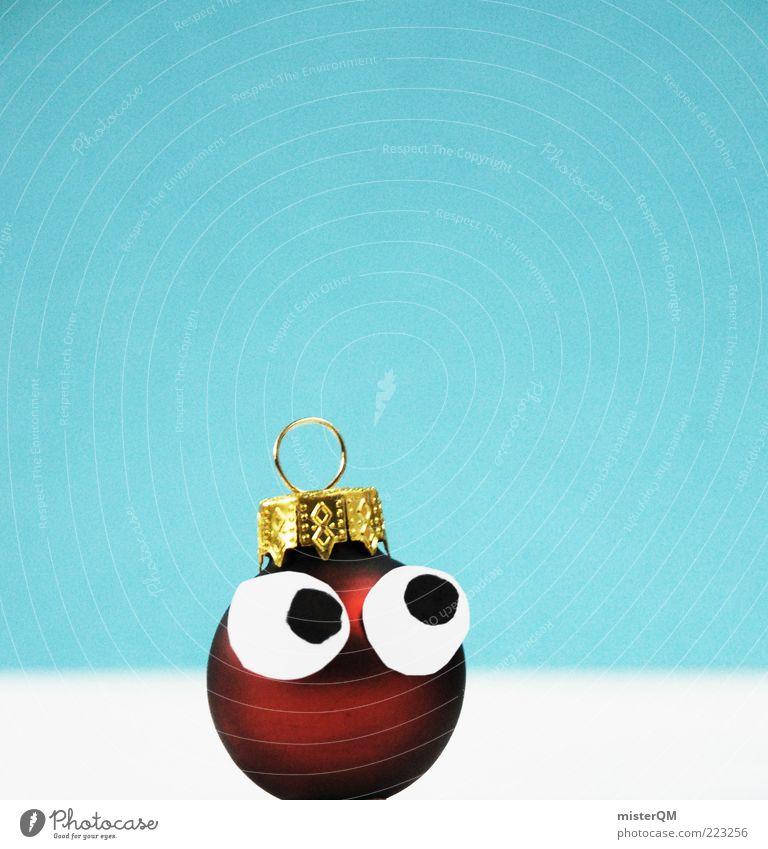 Matschguggl. Kunst ästhetisch Glücksbringer Weihnachten & Advent Weihnachtsdekoration Weihnachtsfigur Christbaumkugel rund Haken Dezember gold blau klein schön