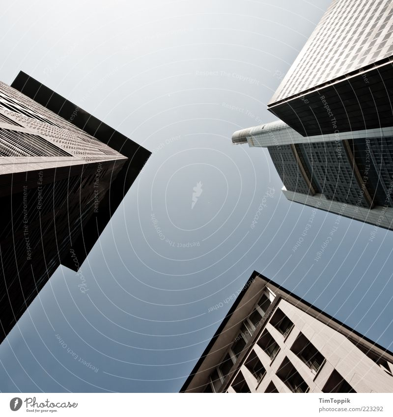 Ffm von unnä Stadt Haus Wand Fenster oben Mauer Architektur Gebäude Fassade Hochhaus hoch Macht Dach Bankgebäude Geldinstitut
