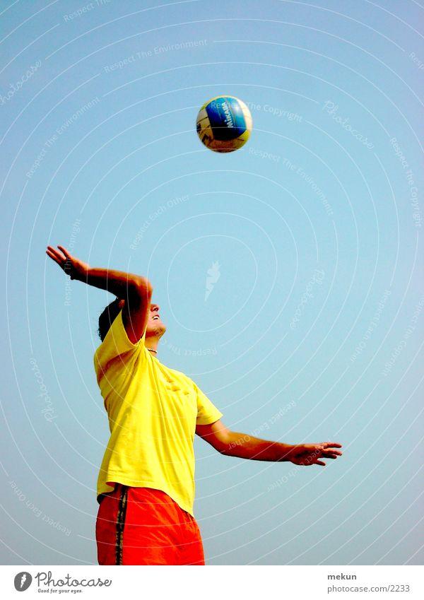Vollyball Strand Mensch Ostsee Sport Ball