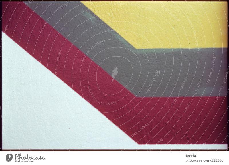Knick in der Optik Mauer Wand eckig Linie Strukturen & Formen abstrakt Dynamik vorwärts Farbe Design Rallystreifen parallel graphisch Muster Hintergrundbild