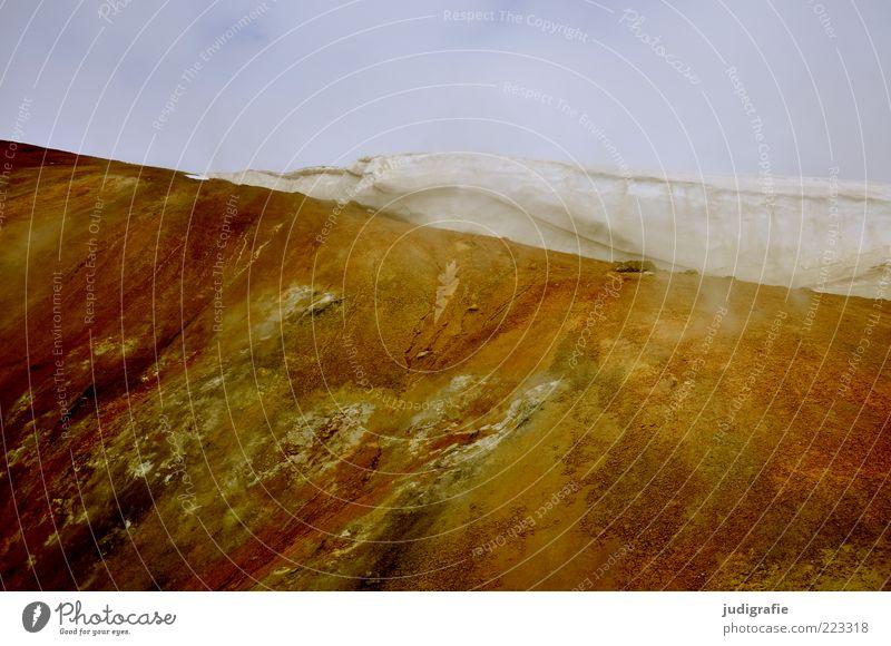 Island Umwelt Natur Landschaft Urelemente Erde Himmel Wolken Klima Eis Frost Schnee Felsen Vulkan Vitikrater außergewöhnlich kalt natürlich Stimmung Farbfoto