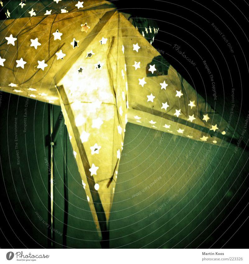 Weihnachtsstern Weihnachten & Advent dunkel Lampe Stimmung Papier Stern (Symbol) Dekoration & Verzierung Häusliches Leben leuchten Quadrat Kreativität