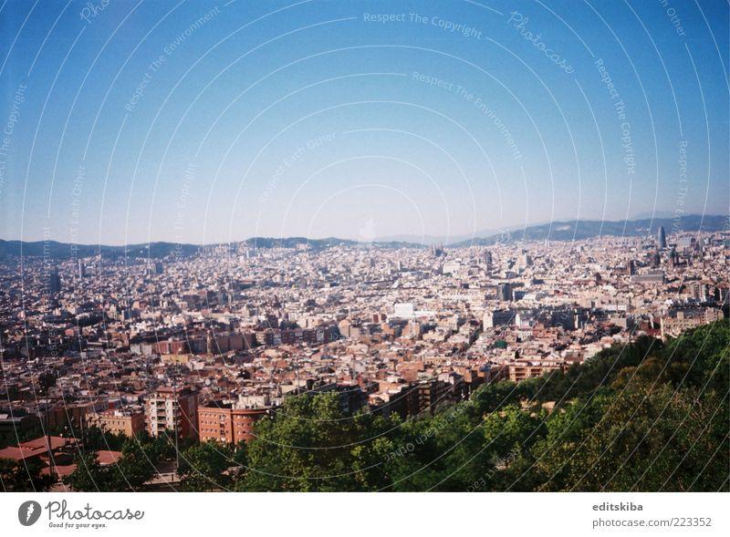 Barcelona Stadt Hauptstadt Haus bauen entdecken genießen Blick Panorama (Aussicht) Farbfoto mehrfarbig Detailaufnahme Menschenleer Tag