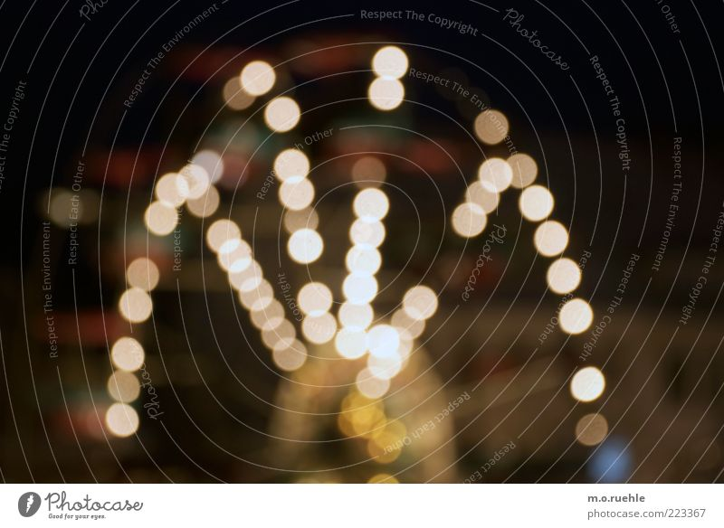 neonamerica Jahrmarkt Riesenrad Weihnachtsmarkt Lichtpunkt Nachtaufnahme