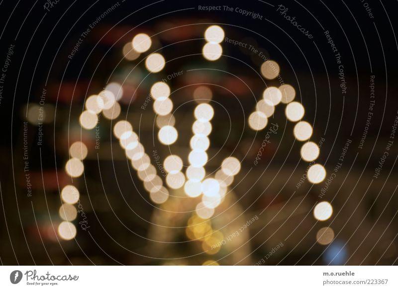 neonamerica Riesenrad Weihnachtsmarkt Licht Jahrmarkt mehrfarbig Farbfoto Außenaufnahme Menschenleer Nacht Lichterscheinung Langzeitbelichtung Unschärfe Totale