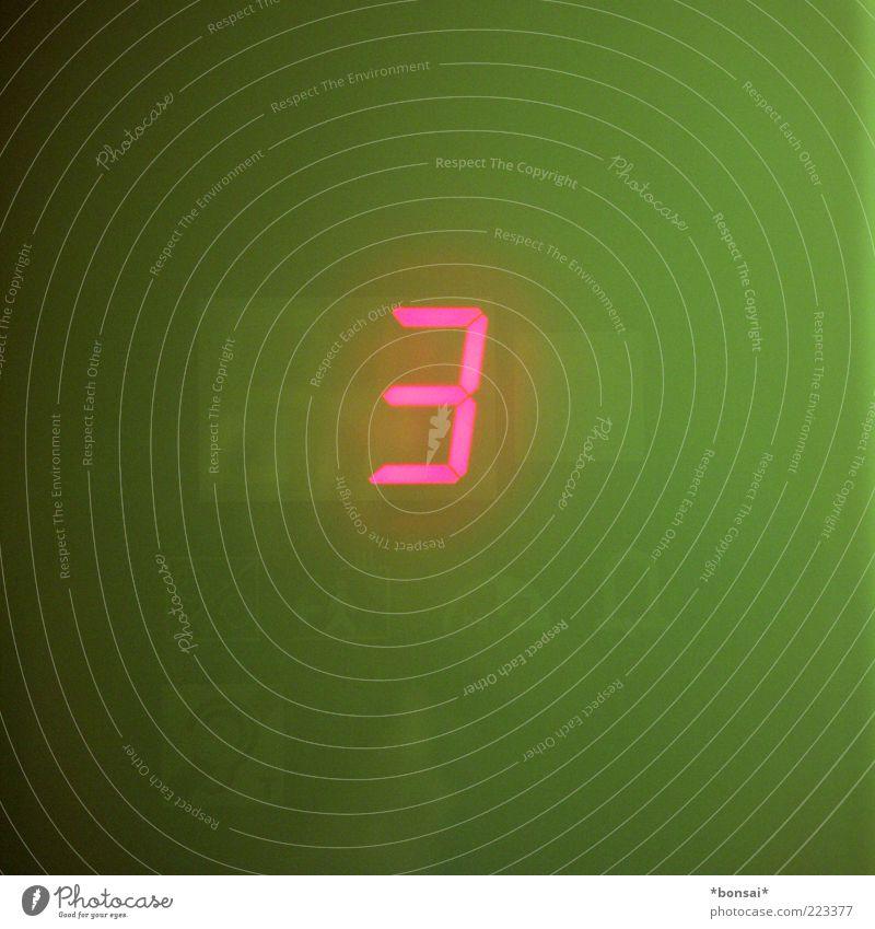 aufwärts Bildschirm Anzeige Informationstechnologie Fahrstuhl Kunststoff Zeichen Ziffern & Zahlen leuchten eckig modern grün rot Design Genauigkeit Kontrolle