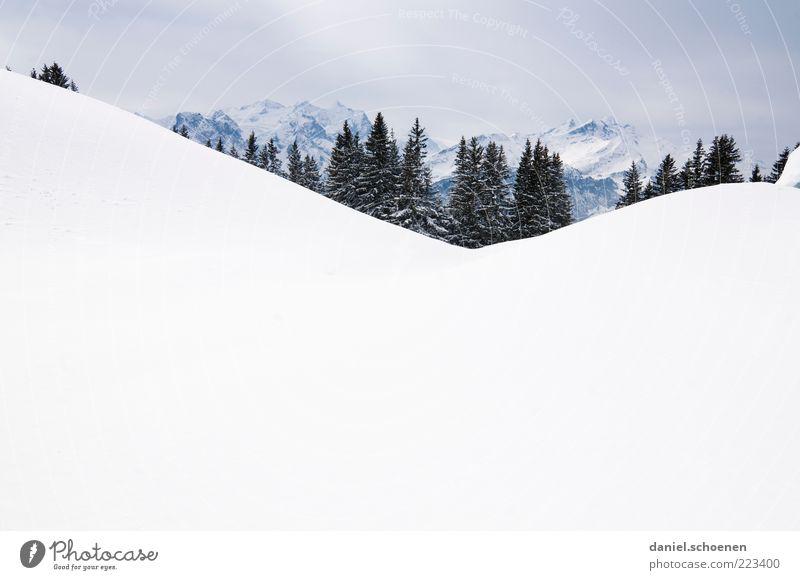 Hasliberg und viel Textfreiraum unten Ferien & Urlaub & Reisen Winter Schnee Winterurlaub Berge u. Gebirge Umwelt Natur Landschaft Eis Frost Alpen hell weiß