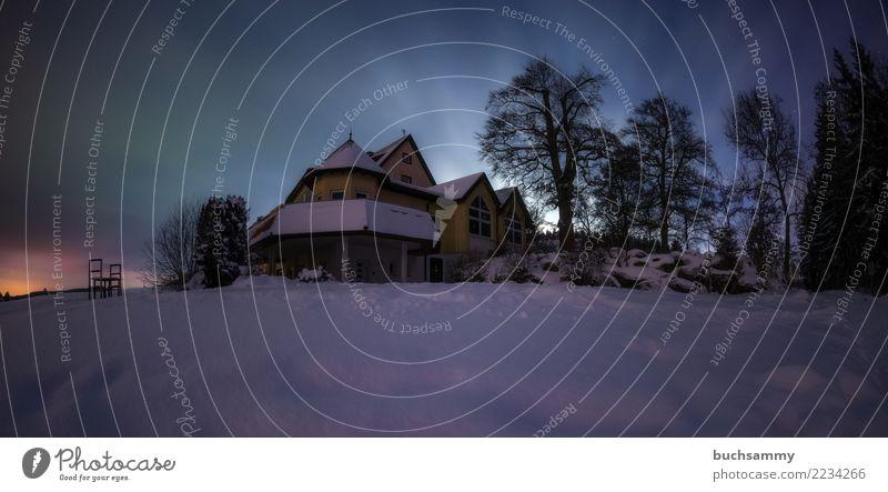 Spukhaus Winter Haus Natur Landschaft Wolken Mond Baum Wald Stadt Ferien & Urlaub & Reisen Europa Jahreszeiten Mondschein Schnee Sternenhimmel Schwarzwald