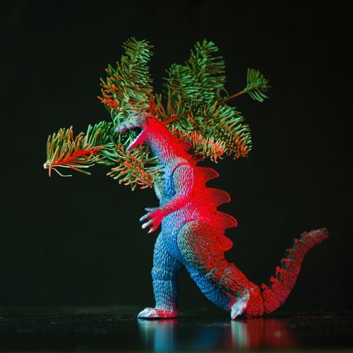 atännschen please! Jagd Weihnachten & Advent tragen Weihnachtsbaum Zweig gozilla Ungeheuer Kontrolle bedrohlich Monster Tannenzweig weihnachtsbaumkauf Spielzeug