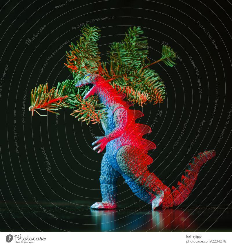 atännschen please! Weihnachten & Advent bedrohlich Postkarte Eile Zweig Spielzeug Weihnachtsbaum Jagd Tanne Kontrolle tragen Monster Tannenzweig Sensation
