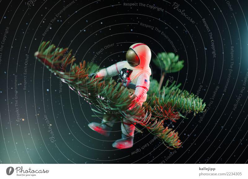 jewel in the night Feste & Feiern Weihnachten & Advent Silvester u. Neujahr Beruf Mensch 1 fliegen Astronaut Tannenzweig Weltall Zusteller Postkarte Christentum