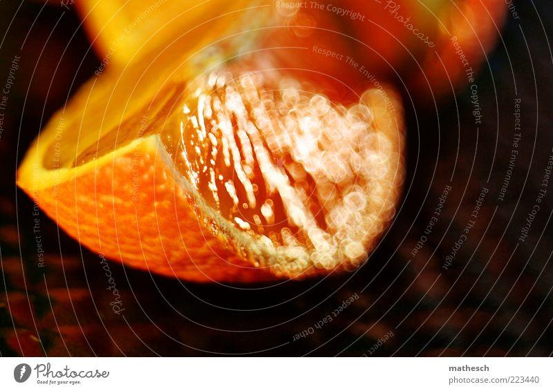 Mandarine Ernährung Lebensmittel orange Orange glänzend Frucht frisch liegen süß Teile u. Stücke lecker fruchtig Fruchtfleisch Vegetarische Ernährung