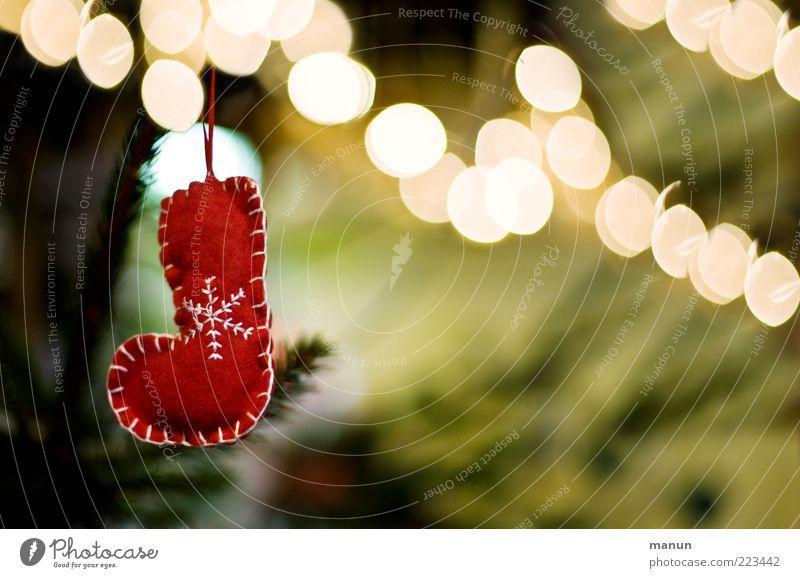 Nikolausstiefel Weihnachten & Advent schön klein Feste & Feiern Stimmung glänzend leuchten einfach Coolness Kitsch hängen Handel Vorfreude Stiefel festlich
