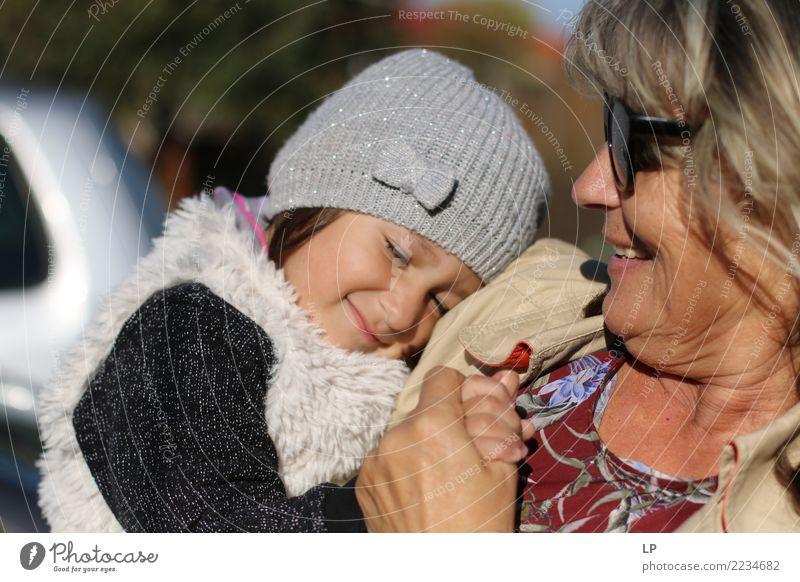 Ich liebe dich über alles Kind Frau Mensch Freude Mädchen Erwachsene Leben Lifestyle Liebe Hintergrundbild Senior Gefühle feminin Familie & Verwandtschaft