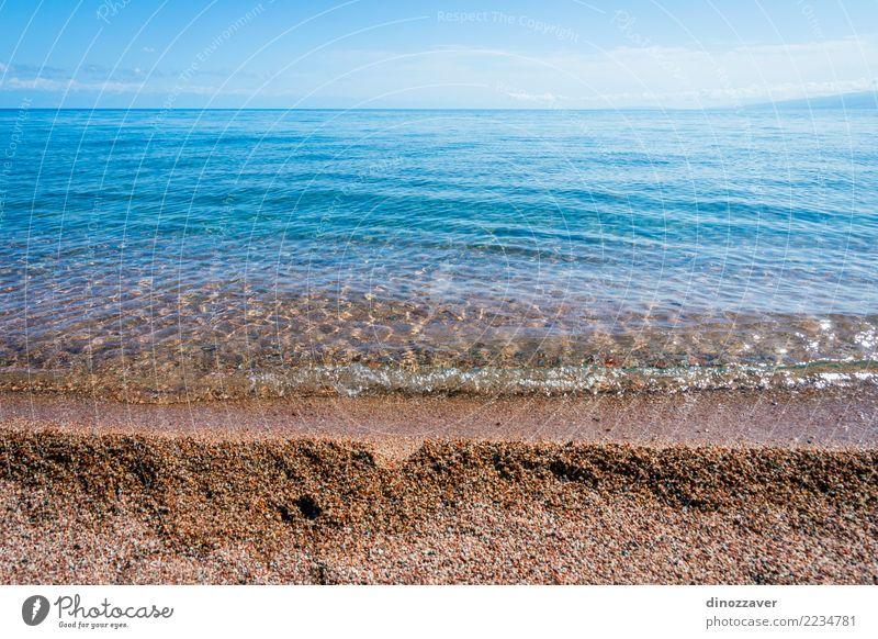 Blaues Wasser von Karakol See Himmel Natur Ferien & Urlaub & Reisen blau Sommer schön Sonne Landschaft Strand Umwelt natürlich Küste Tourismus Stein Felsen