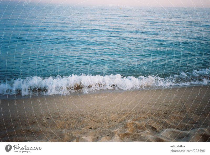 Ozean Ferien & Urlaub & Reisen Tourismus Ausflug Freiheit Sommer Sommerurlaub Sonne Strand Meer atmen genießen schön blau Barcelona Farbfoto Außenaufnahme