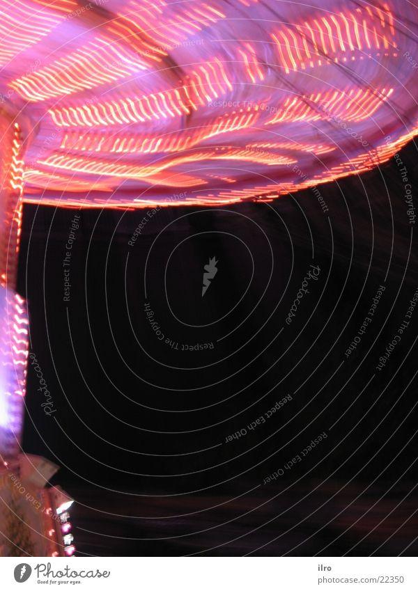 Pink Karusell rosa drehen Jahrmarkt Nacht Freizeit & Hobby karusell kirchweih kettenkarusell