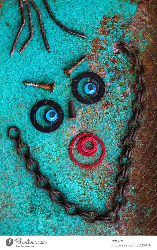 Emotionen...coole Gesichter: Alte Liebe rostet.... Mensch rot Auge feminin braun maskulin türkis androgyn