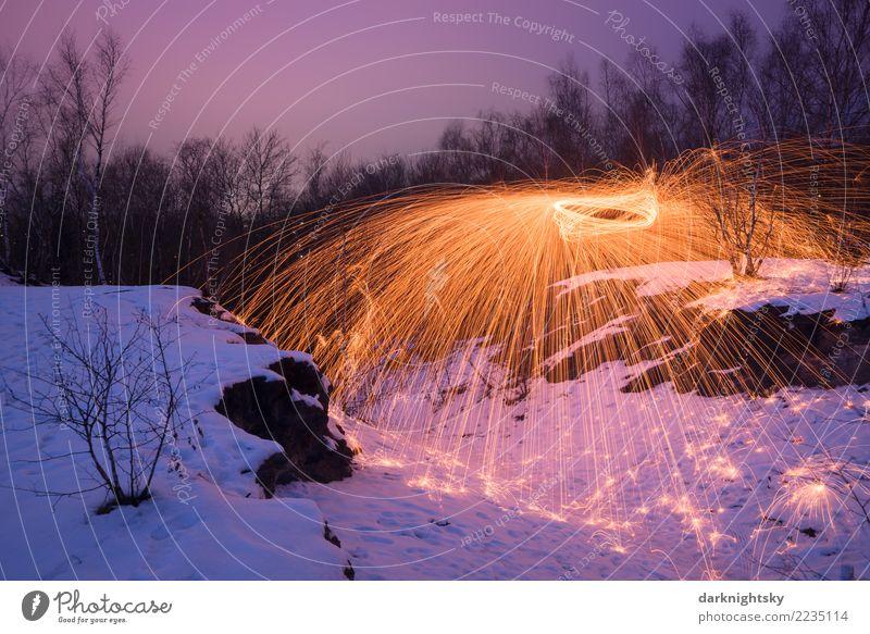 Feuer Eis und Funken Pflanze blau Landschaft Wolken Winter gelb Schnee Deutschland Felsen Luft gold Warmherzigkeit Hügel Urelemente