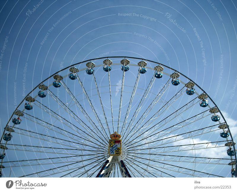Riesenrad Jahrmarkt Freizeit & Hobby rund Elektrisches Gerät Technik & Technologie hoch karusell bayrisch Bayern blau