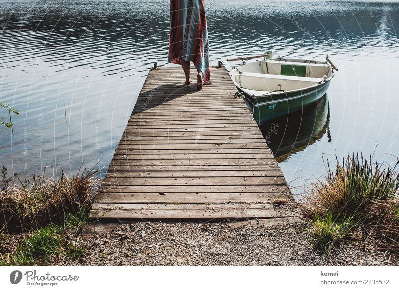 Morgens am See Lifestyle Stil harmonisch Wohlgefühl Zufriedenheit Sinnesorgane Erholung ruhig Freizeit & Hobby Ferien & Urlaub & Reisen Ausflug Abenteuer