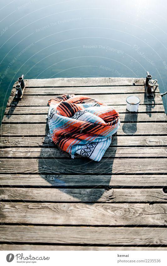 Lieblingsdecke, Lieblingstasse, Lieblingswetter Ferien & Urlaub & Reisen Sommer schön Wasser Sonne ruhig Wärme Lifestyle Holz Stil Freiheit Design Ausflug