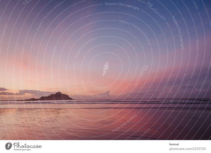 ...bis die Wolken wieder lila sind Ferien & Urlaub & Reisen schön Wasser Meer Erholung ruhig Ferne Umwelt Küste außergewöhnlich Tourismus Freiheit rosa Ausflug