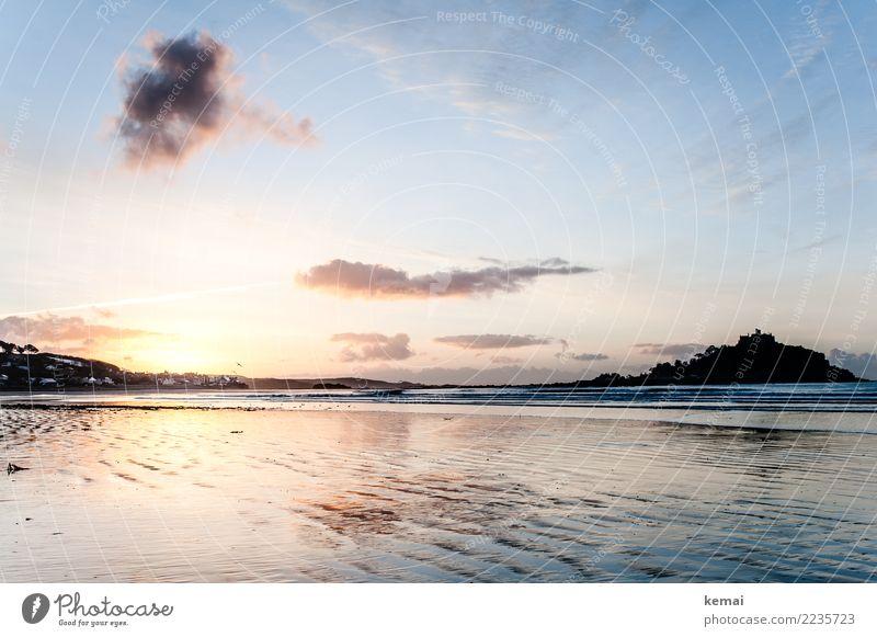 Sonne und Meer Himmel Natur Ferien & Urlaub & Reisen schön Landschaft Erholung Wolken ruhig Ferne Strand Umwelt Küste Freiheit Ausflug Freizeit & Hobby