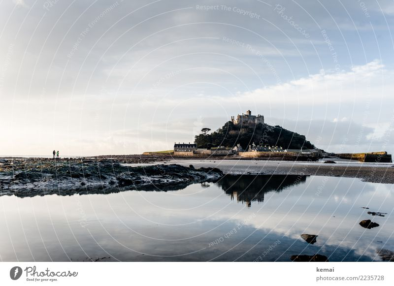 A morning in Cornwall Himmel Ferien & Urlaub & Reisen Wasser Landschaft Meer Erholung Wolken ruhig Leben Küste Tourismus Freiheit Zusammensein Felsen Ausflug