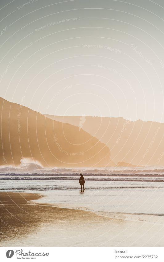 The kid Kind Mensch Ferien & Urlaub & Reisen schön Wasser Landschaft Meer Erholung ruhig Wärme Leben Umwelt Küste Spielen Tourismus Freiheit