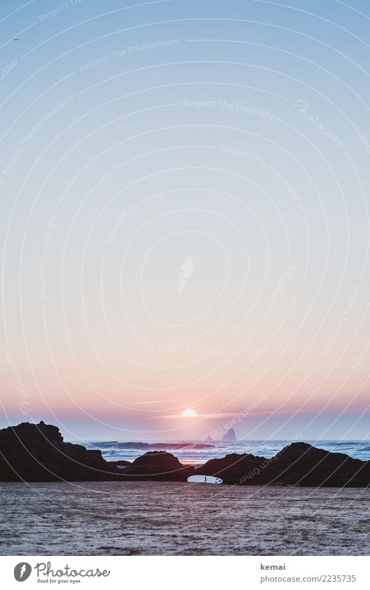 End of day Ferien & Urlaub & Reisen Wasser Meer Erholung ruhig Ferne Strand Leben Lifestyle Umwelt Küste Freiheit Felsen Ausflug Freizeit & Hobby Zufriedenheit