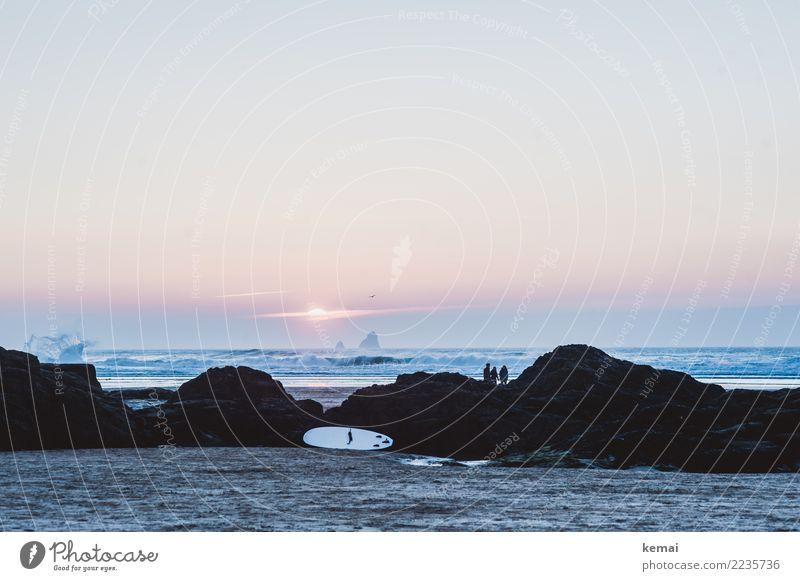 End of day II Lifestyle harmonisch Wohlgefühl Zufriedenheit Sinnesorgane Erholung ruhig Freizeit & Hobby Surfen Surfbrett Ferien & Urlaub & Reisen Tourismus