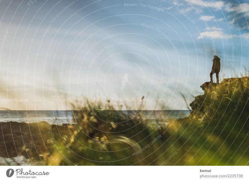 Viewpoint Mensch Himmel Natur Ferien & Urlaub & Reisen Meer Erholung Wolken ruhig Ferne Lifestyle Küste Tourismus Freiheit Ausflug Freizeit & Hobby