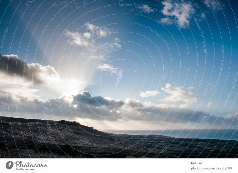 Lightbeam Himmel Natur Ferien & Urlaub & Reisen schön Landschaft Meer Erholung Wolken ruhig Ferne Umwelt Küste außergewöhnlich Freiheit Ausflug Freizeit & Hobby