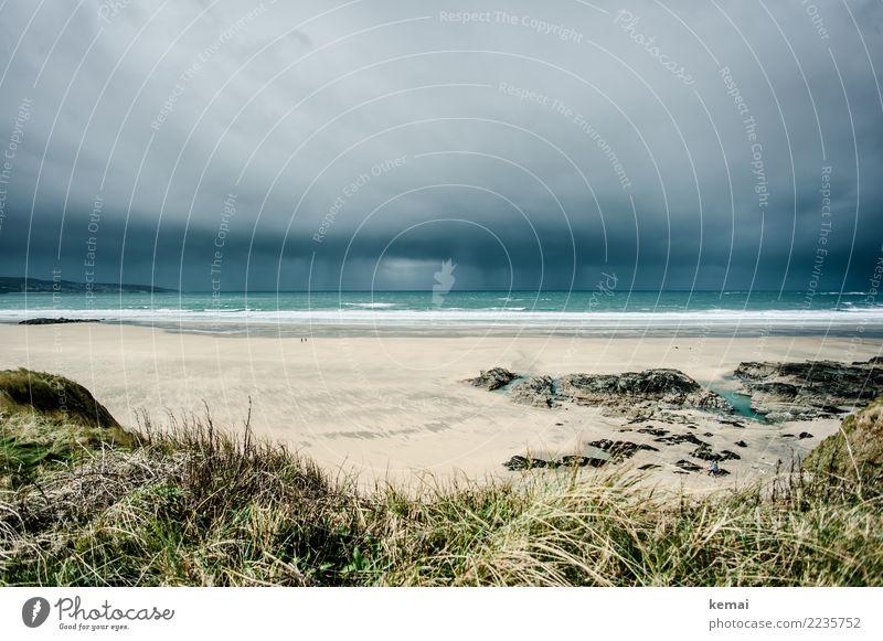 Wetter in Sicht Himmel Natur Ferien & Urlaub & Reisen Wasser Landschaft Meer Wolken Ferne Strand dunkel Umwelt Küste Freiheit Ausflug Regen